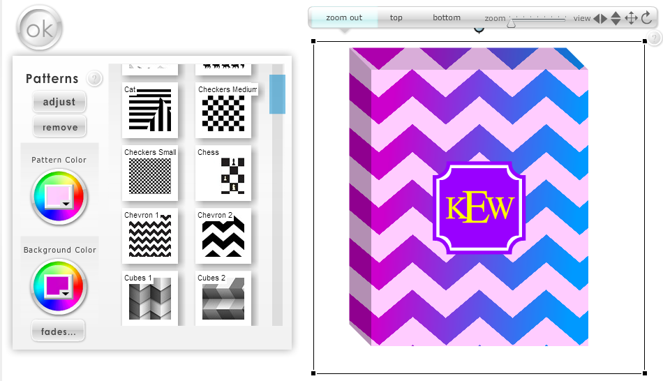 Designing a Custom Chevron Pattern with MyStyle (screen shot)
