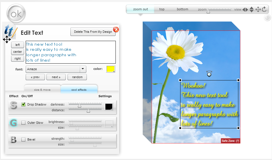 New Multi-Line Custom Text Tool Makes Poems and Long Quotes Easy!
