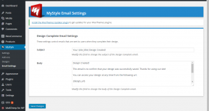 MyStyle Email Manager Add On