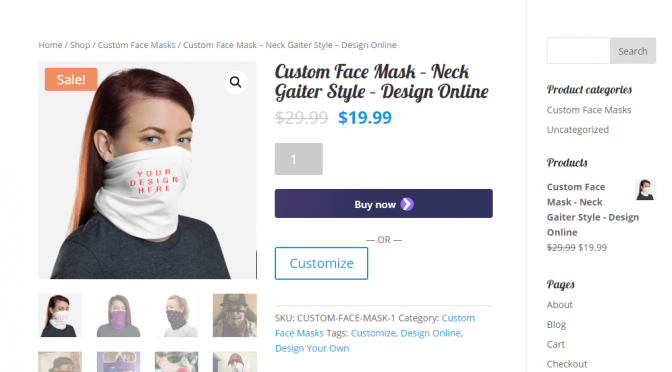 1CustomFaceMask.com Launches with Design Your Own Custom Face Mask